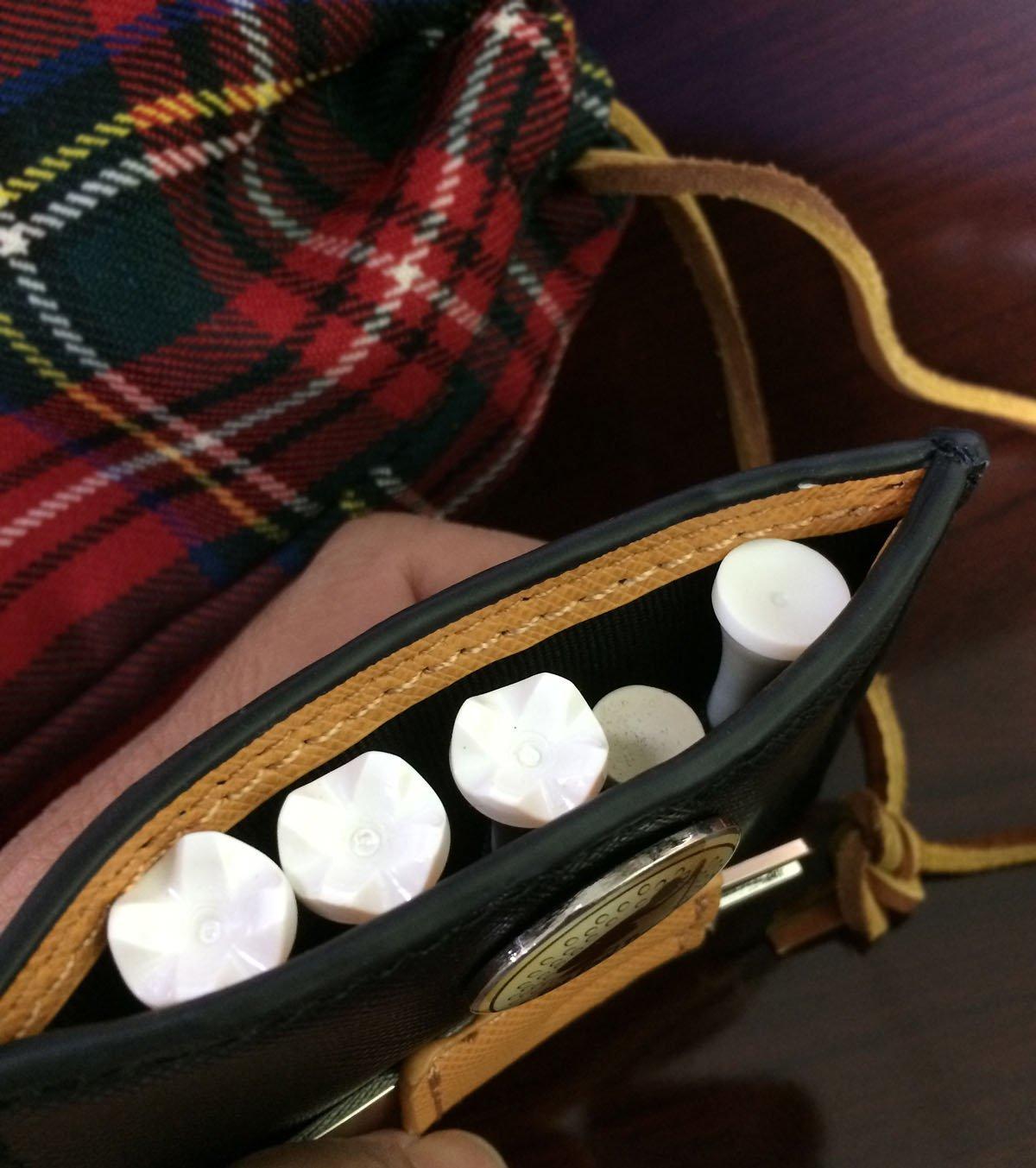 Rorytory 2 Pc Pocket Cleaner Golf Ball Marker Tee Holder Cleaner