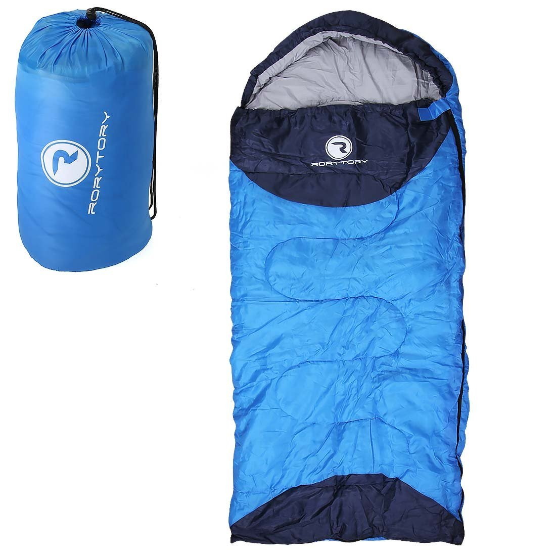 Rorytory Kids All Weather Mummy Style Camping Sleeping Bag With Carrying Case